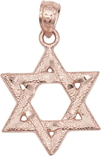 """LIFETIME WARRANTY 18K Gold Plated Rope Chain W//Star Of David Pendnt 20/"""""""