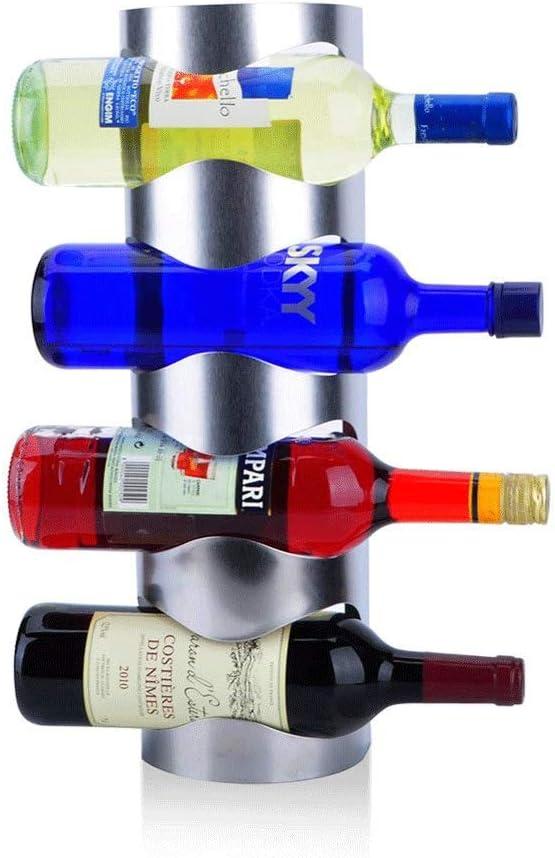 MNDHJD 壁掛け式ワインラック - ワインボトルホルダータオルラック、5ワインボトルラックホルダー棚素朴な木製の壁ワインラック不要組立