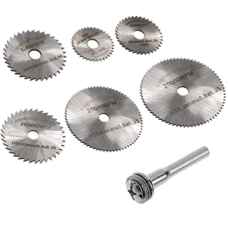 Migiwata hss mini circular saw blades set of 7pcs with 6mm straight migiwata hss mini circular saw blades set of 7pcs with 6mm straight shank mandrel for dremel keyboard keysfo Gallery