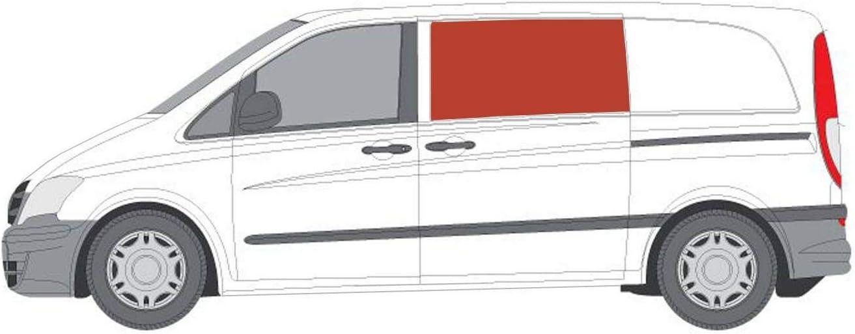 Mano izquierda ventana abatible para puerta corredera, tintado oscuro Mercedes Vito (2003 – 2014): Amazon.es: Coche y moto