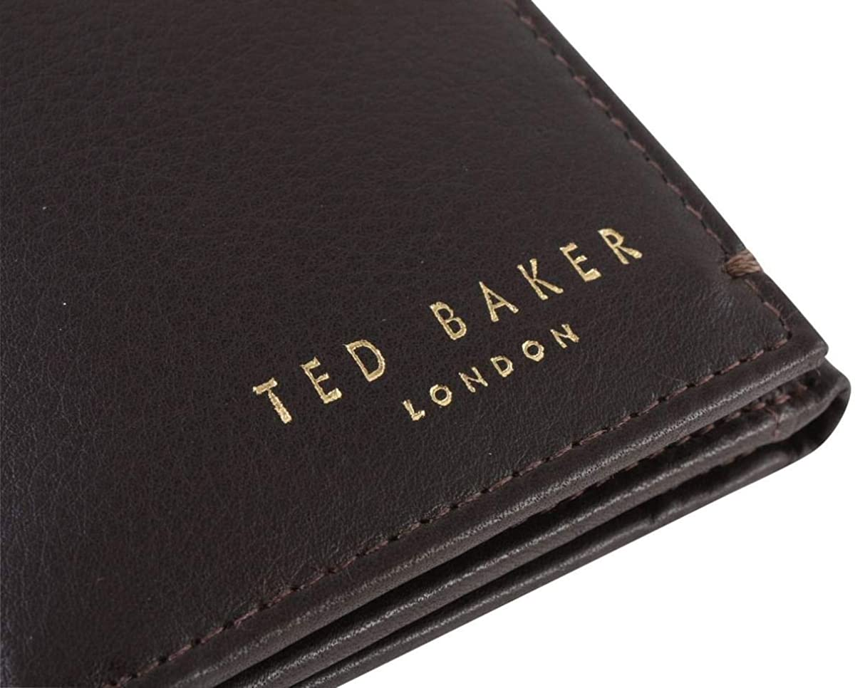 Ted Baker Men S Core Mini Card Lthr Travel Accessory Tri Fold Wallet Xchocolate One Size Amazon Co Uk Shoes Bags