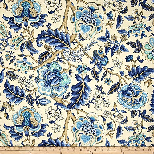 WAVERLY 0347155 Sun N Shade Imperial DressAzure Outdoor Fabric by The Yard, Azure