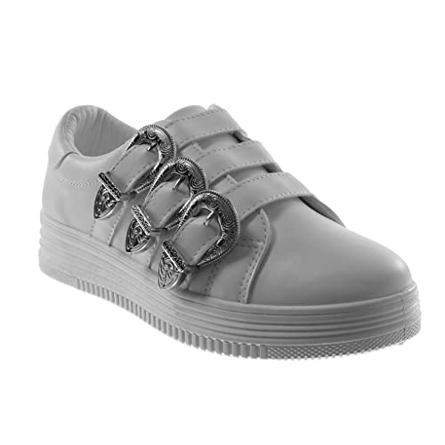 Angkorly Tennis Chaussure Mode Baskets Tennis Angkorly Plateforme Femme Multi Bride 0ae3b8