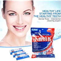 100pcs Dental Floss Picks Individually Wrapped Oral Care Teeth Cleaning Flat Wire Flosser