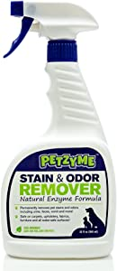 Petzyme Pet Stain Remover & Odor Eliminator, Enzyme Cleaner for Dogs, Cats Urine, Feces and More