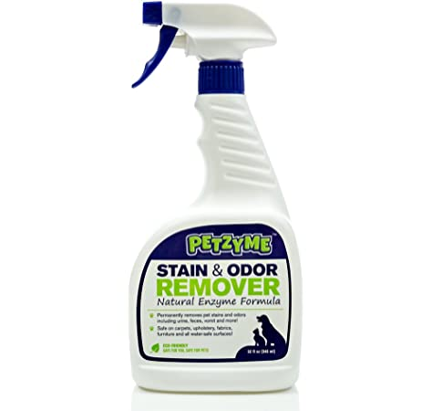 Petzyme Pet Stain Remover & Odor Eliminator, Enzyme Cleaner ...