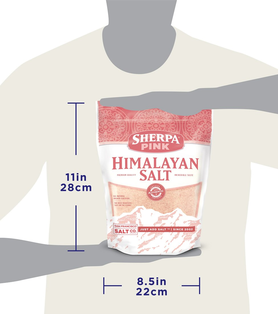 Sherpa Pink Gourmet Himalayan Salt, 5 lbs Fine Grain. Incredible Taste. Rich in Nutrients and Minerals To Improve Your Health by Sherpa Pink (Image #8)