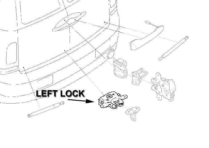 Amazoncom Rear Cargo Door Left Side Lower Lock Oem R55 Mini