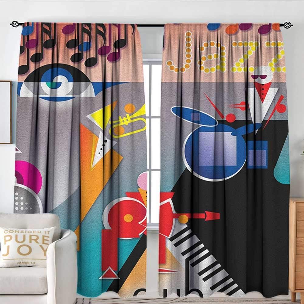 Sillgt Cortina para Puerta corredera de música, Banda Abstracta de Formas geométricas para Tambores y acordeón, Ideal para Salas de Estar y dormitorios: Amazon.es: Hogar