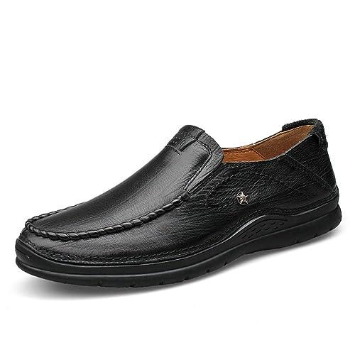 Mocasines Hombre Planas Suave Antideslizantes Verano Fiesta Slip On Piel Trabajo Zapatos: Amazon.es: Zapatos y complementos
