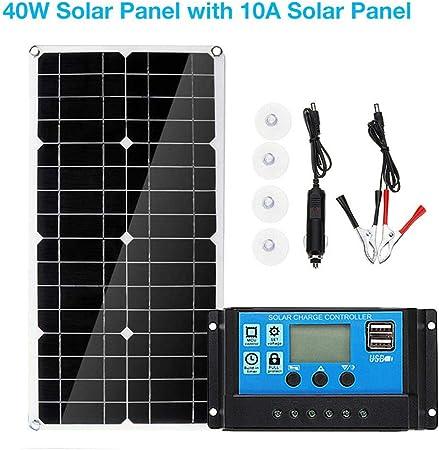 Kit Fotovoltaico Pannello solare 5 Watt più Regolatore di carica controller 10A