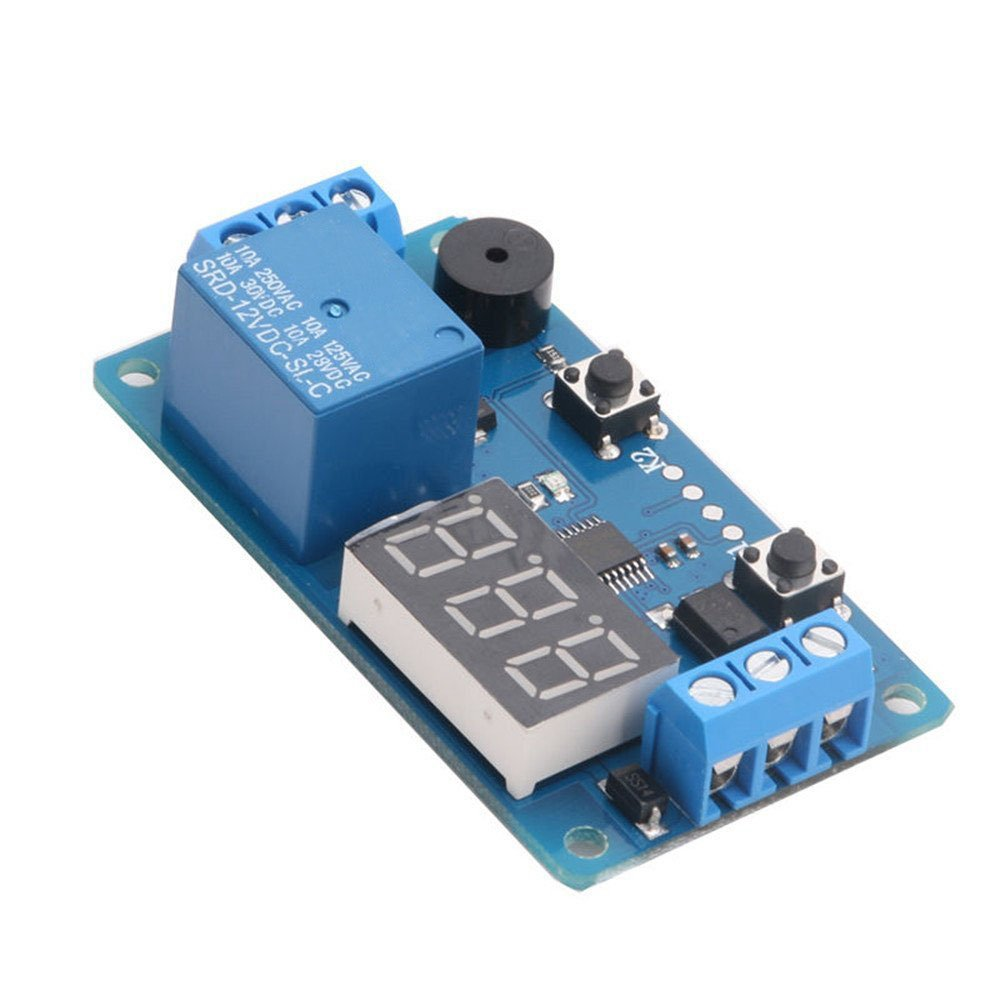 12v Display Led Timer Relay Programmable Digital Readout Module Indicator Circuit For Board Games Electronic Delay Switch With Car Buzzer2 Buttons