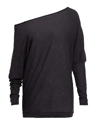 c4e970a6158c4 Anna-Kaci Women s Sweater Casual Oversized Baggy Off-Shoulder Shirts ...