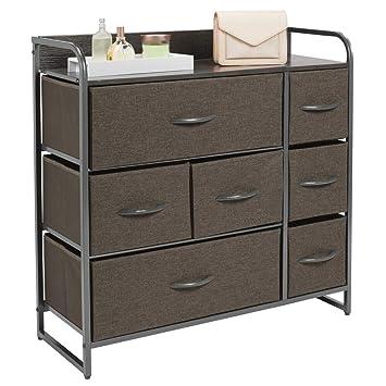 mDesign Cómoda para dormitorio con 7 cajones - Mueble con ...