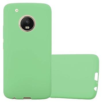 Cadorabo Funda para Motorola Moto G5 Plus en Candy Pastel GRÜN – Cubierta Proteccíon de Silicona TPU Delgada e Flexible con Antichoque – Gel Case ...