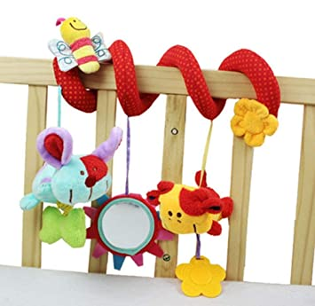 Christmas Gifts Baby Kids Stroller Bed Around Spiral Hanging Activity Soft Toys