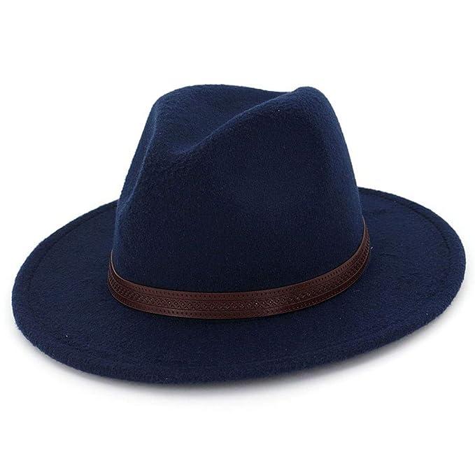OLIS,Sombrero Fedora Fieltro Ala Ancha Unisex Sombrero Del Gángster Estilo  Panameño 792ecdf41c0