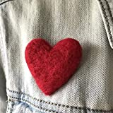 Large Red Heart Brooch Pin
