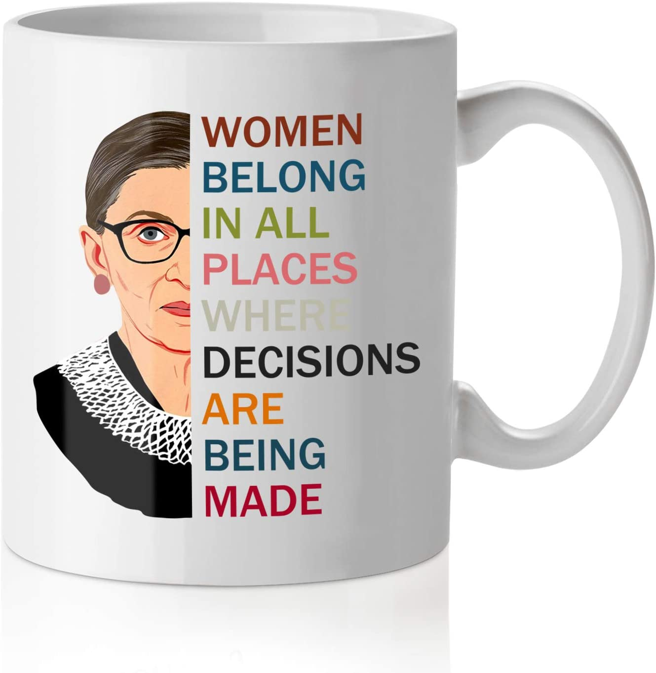Pcdvn Notorious RBG Mug, Feminist Birthday Mother's Day Gifts For Mom, Ruth Bader Ginsburg Quotes Coffee Tea Cup