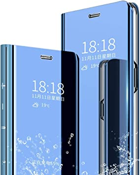 Aidinar Funda para Samsung Galaxy A70, Mirror Smart Flip Cover ...
