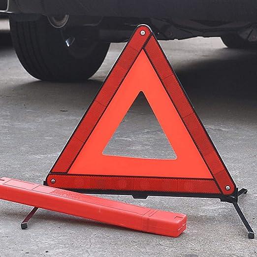Dreiecks Notfall Warnung Reflektierendes Notfall Dreiecksschild Warndreieck Warndreieck Faltbares Schild Free Size Red 2pcs Küche Haushalt