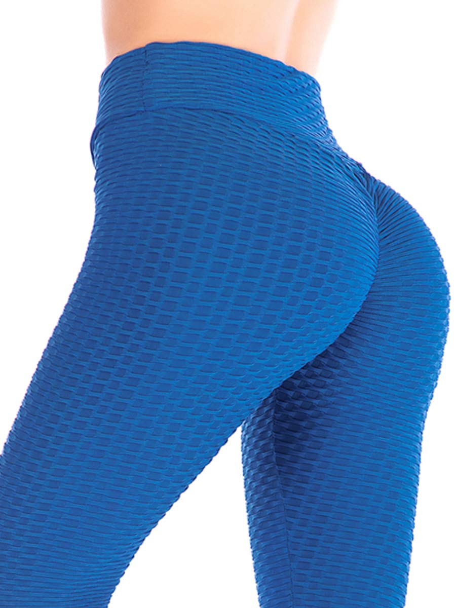 DODOING Damen Leggings Jogginghose Sport Yoga Hose Frauen High Taille Leggins Geraffte Butt Lifting Push Up Skinny Hose Fitnesshose Gefaltet Tights Sporthose Strumpfhosen B70014-DEAA-CN