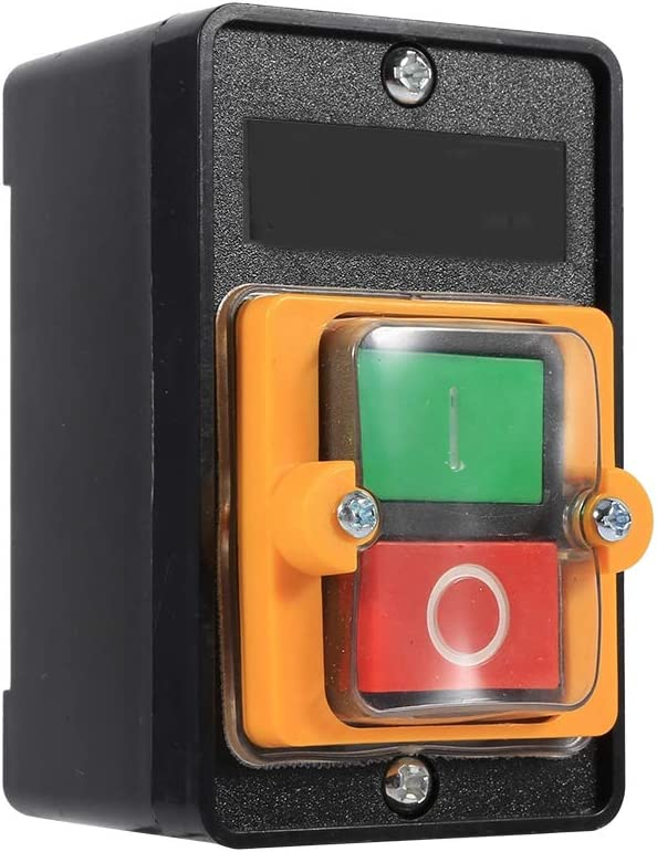 Bouton poussoir momentan/é sur interrupteur darr/êt ON//OFF /étanche /à leau interrupteur /à bouton poussoir machine-outil accessoires 10A 380V