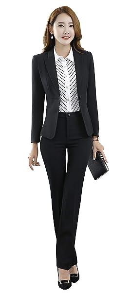 Amazon.com: SK Studio Mujeres 2 piezas Slim Fit pantalones ...