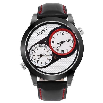 Reloj De Pulsera, 3 tipos Moderno Hombres macho analógico de cuarzo relojes aleación esfera placa