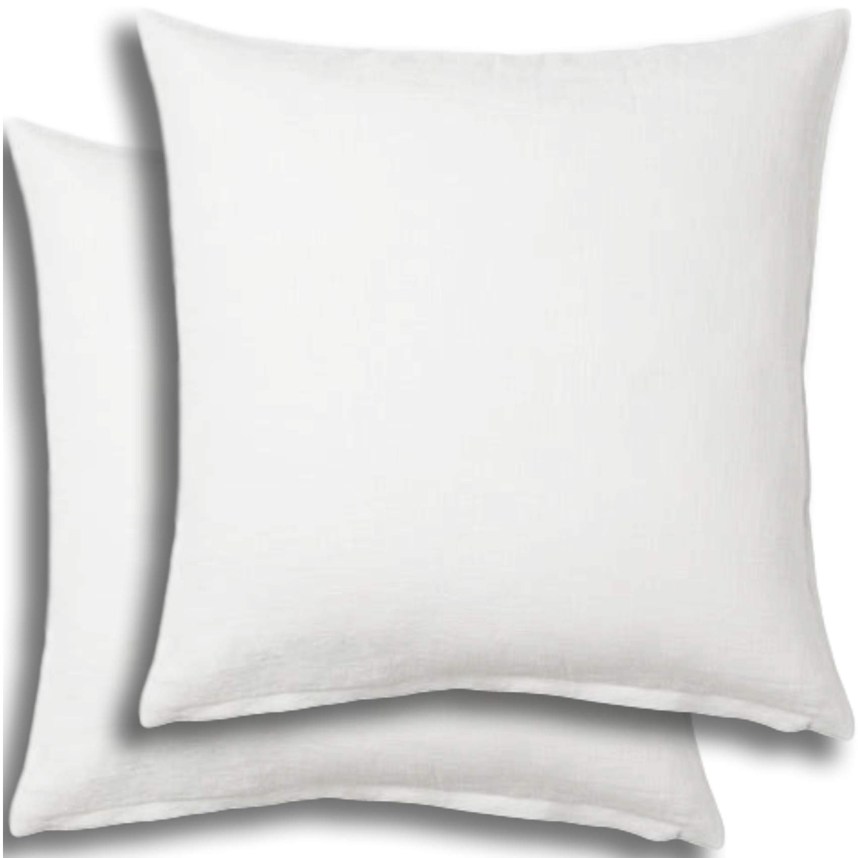 Set of 2 - Pillow Insert 28x28 Decorative Throw Pillow Inserts - Euro Sham Stuffer for Sofa Bed Couch Square White Form 2 Pack - Hypoallergenic Machine Washable and Dry Polyester - Made in USA