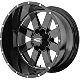 """Moto Metal MO962 Gloss Black Wheel With Milled Accents (20x12""""/8x165.1mm, -44mm offset)"""