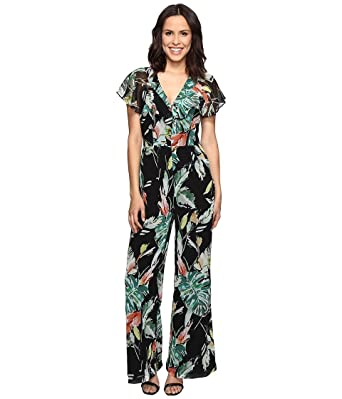 d93daf5682bc Amazon.com  Adelyn Rae Women s Printed Jumpsuit Black Multi Jumpsuit ...