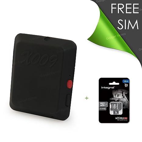Ixium X009 Cámara Espía y GPS Dispositivo de seguimiento Personal vehículo Car Tracker dispositivo incluye 16