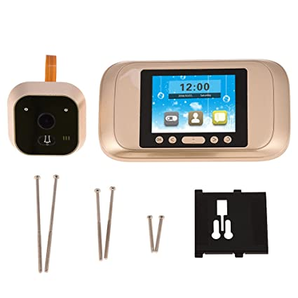 Zerone - Cámara de vigilancia para puerta de vídeo, 3,2 pulgadas, HD 720P, visor de seguridad ...