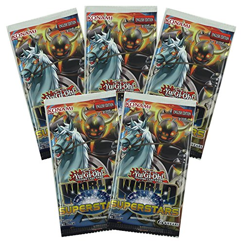 5 (Five) Pack Lot - Yu-Gi-Oh Cards: World Superstars Booster Packs - YuGiOh! Trading Card Game