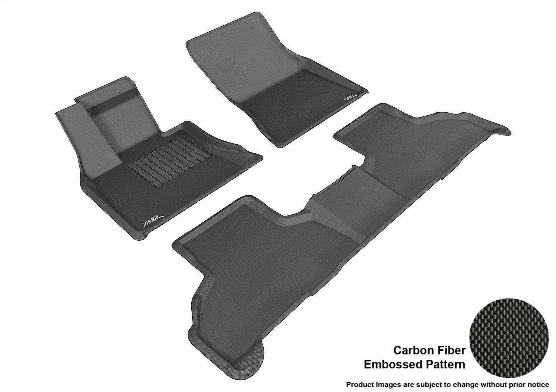 3D MAXpider All 2 Row Custom Fit Floor Mat for Select BMW X5 Models Kagu Rubber Black F15