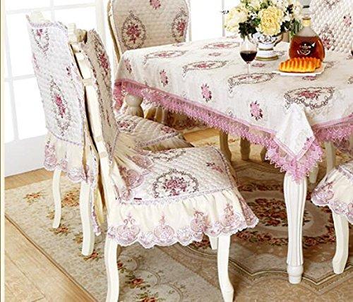 ZWZT Tavolo da pranzo sedie set set decorativo tovaglie