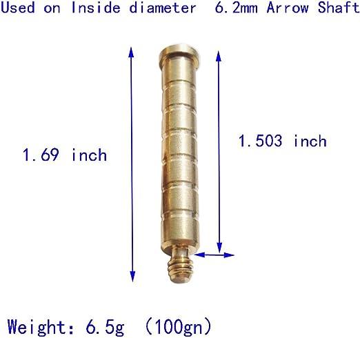 Archery ARROW Insert Laiton Base Vis 100gr-300gr poids Flèche Arbre À faire soi-même Shoot
