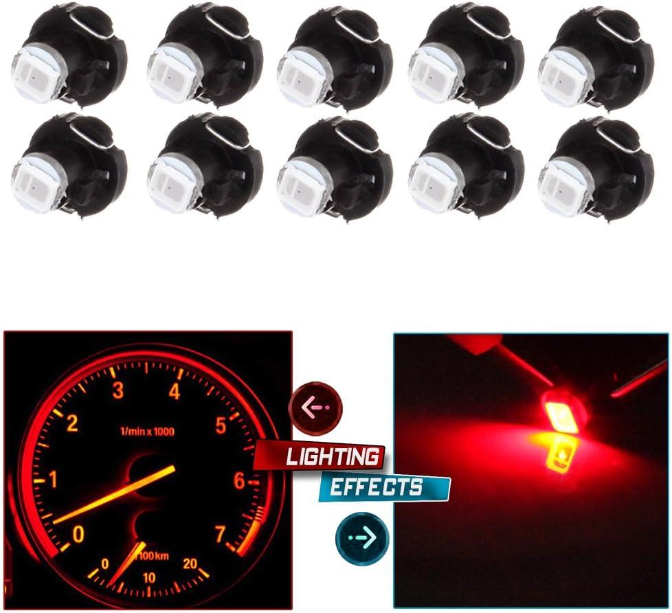blue cciyu 10 Pack Blue T3 2-3014 SMD Neo Wedge 35852-SEP-A02 A//C Climate Control LED Light Bulbs