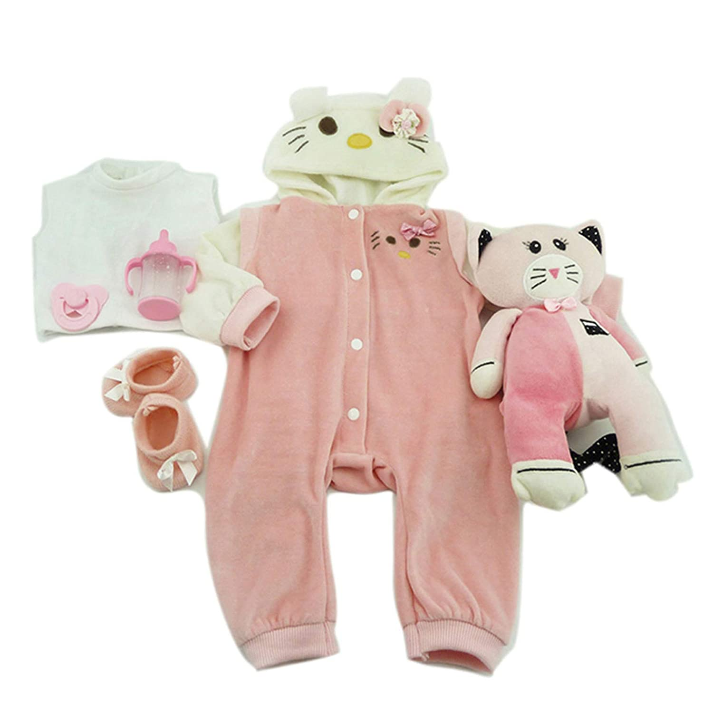 TERABITHIA 4 Estilos Diferentes Se Ajusta a 50-55 CM Mu/ñecas reci/én Nacidas Vestido Reborn Baby Doll Toda la Ropa de algod/ón