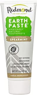 product image for Redmond Earthpaste - Natural Non-Fluoride Spearmint Flavored Toothpaste, 4 Ounce Tube (2, Spearmint)
