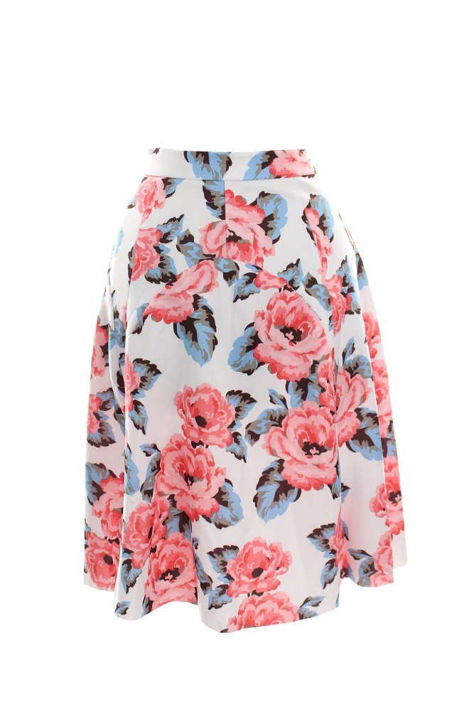 INC Womens Plus Floral Print Scuba A-Line Skirt Pink 22W 54909RA193