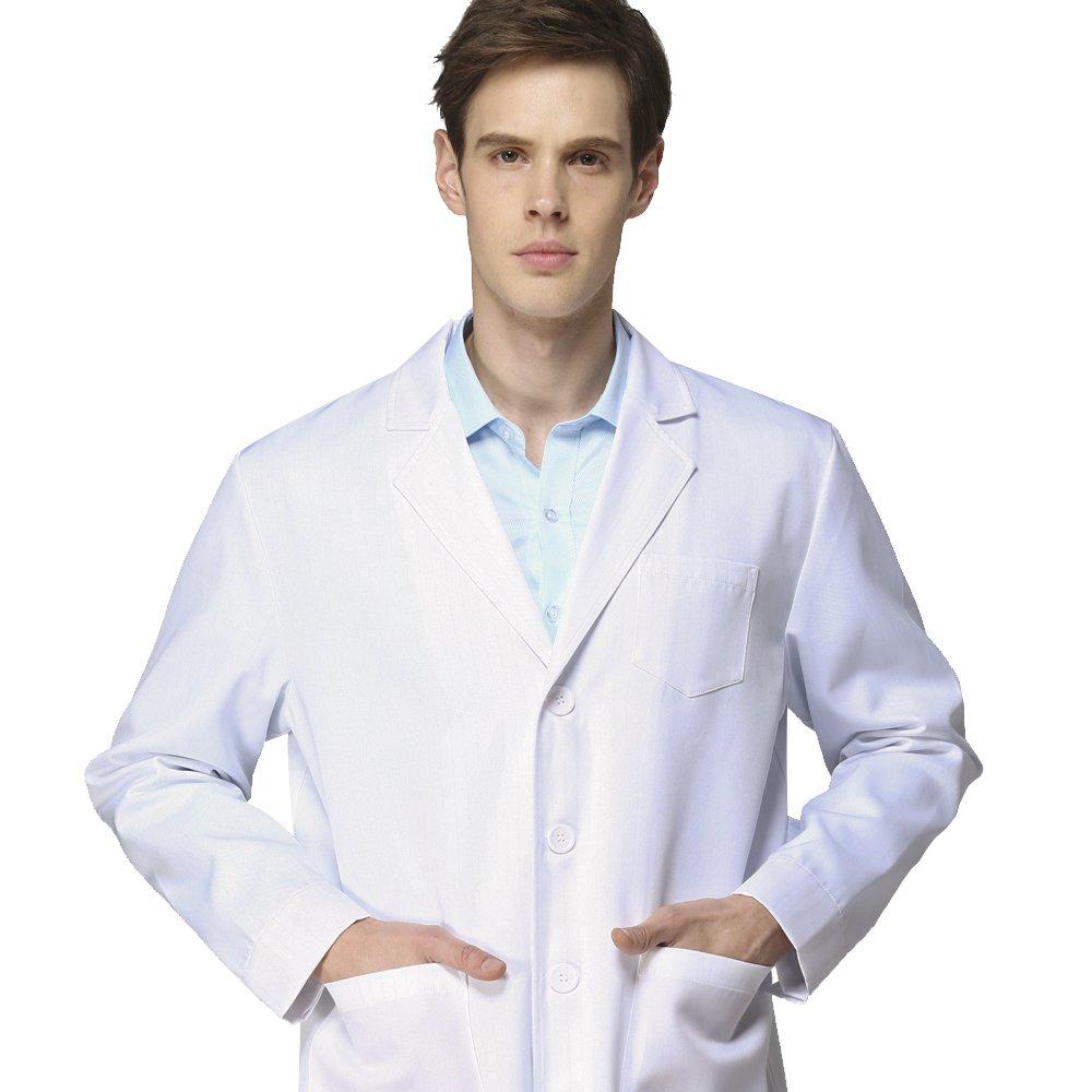 Icer Lab Coat for Professional Unisex Men Women Medical White Coat Doctor Coat Technician Coat,School Coat