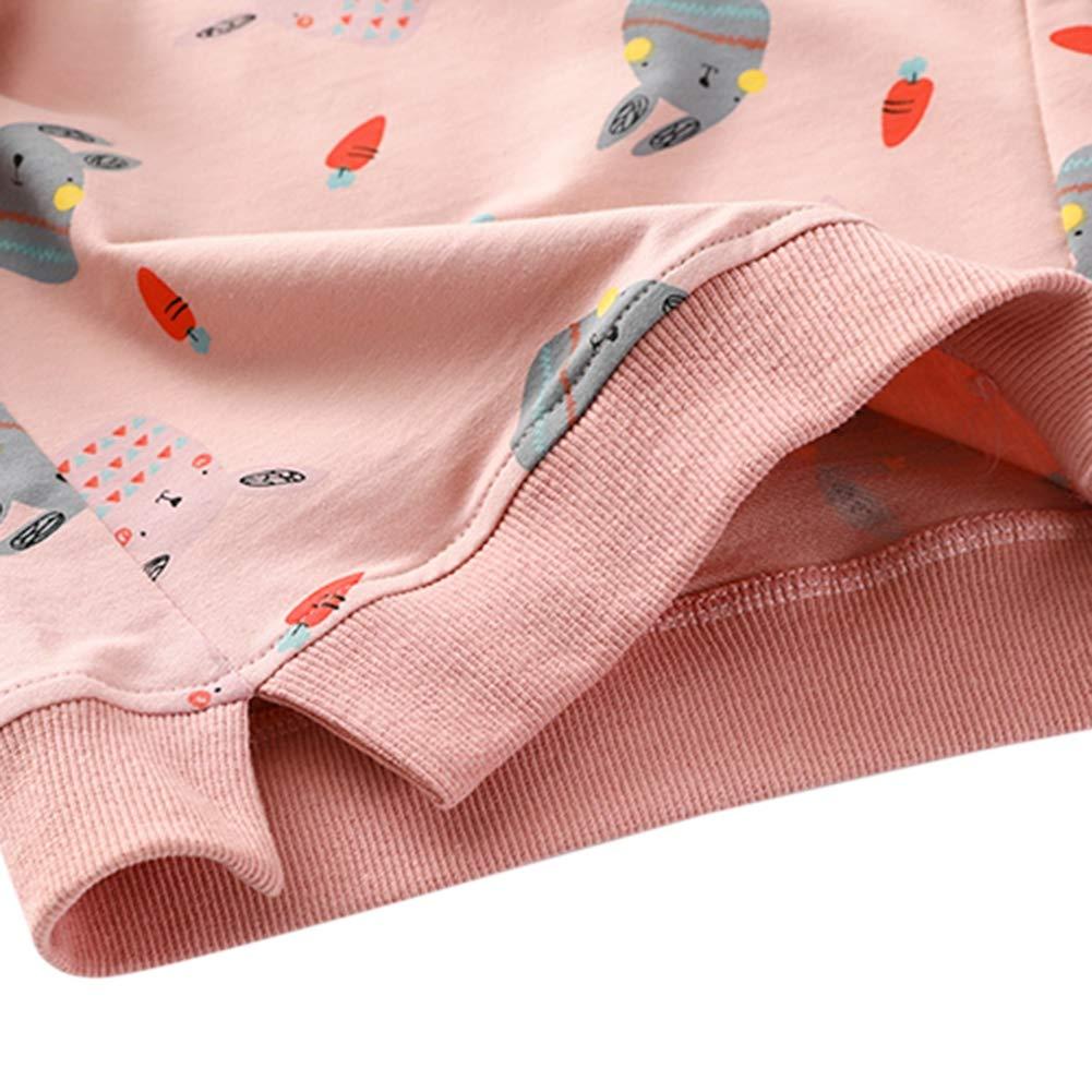 3b3ab6ccc ... BAOBAOLAI Little Girls Kids Long Sleeve Sweatshirts Children Sun Rainbow  Rabbits Floral Tops Jumper Shirts for