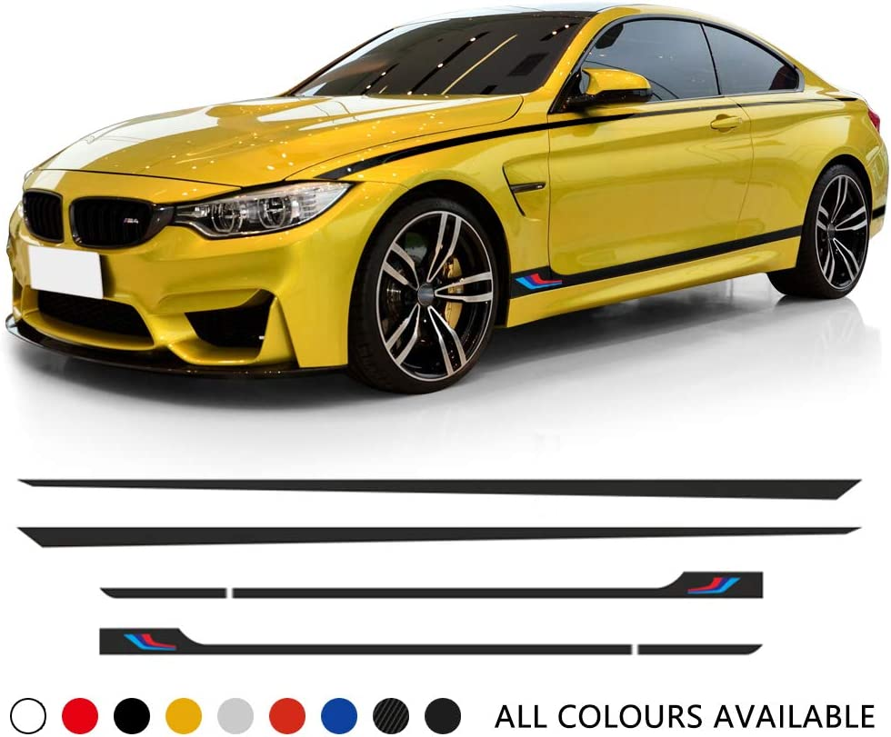 SIDE STICKER FOR BMW 1 SERIES F20 F21 M PERFORMANCE DECALS SKIRTS VINY CARBON 5D