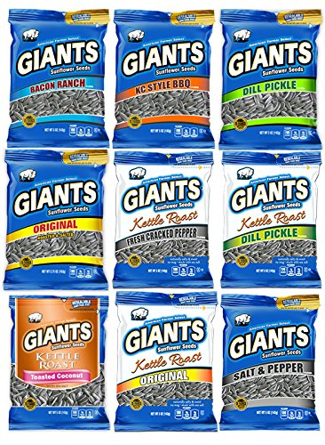 Flavored Sunflower Seed Variety Pack 12 - Bags (Giants Dill Pickle compare prices)