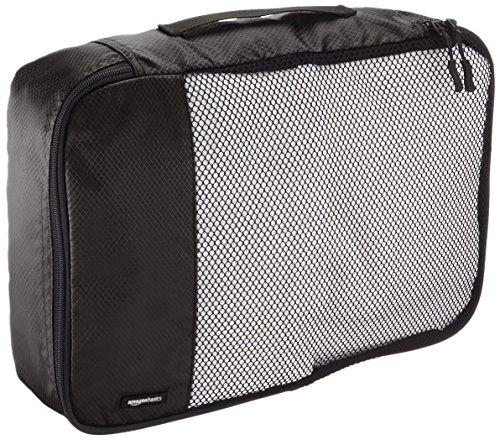 61sNI4AuWAL AmazonBasics Packing Cubes/Travel Pouch/Travel Organizer - Medium, Black (4-Piece Set)