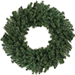 """Northlight 24"""" Canadian Pine Artificial Christmas Wreath - Unlit"""