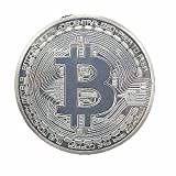 Hidream®Silver Plated Bitcoin Coin Collectible Art Coin Directly to your wallet WT