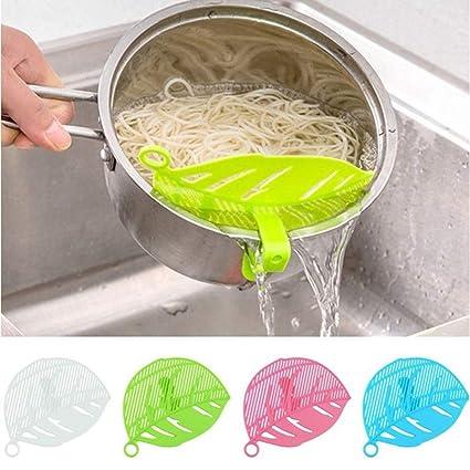 Sencillo Vida Clip-On Escurridor para Ollas Colador de Pasta Coladores  Cocina para Verduras de 4de123207e2c